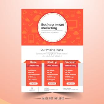 Marketing zakelijke brochure-sjabloon