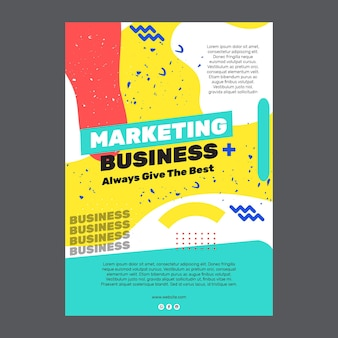 Marketing zakelijke poster