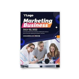 Marketing zakelijke verticale flyer