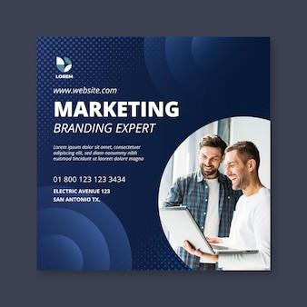 Marketing zakelijke vierkante flyer