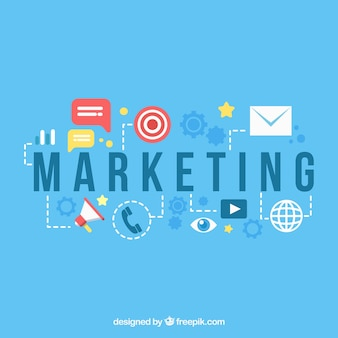 Marketingachtergrond in vlakke stijl