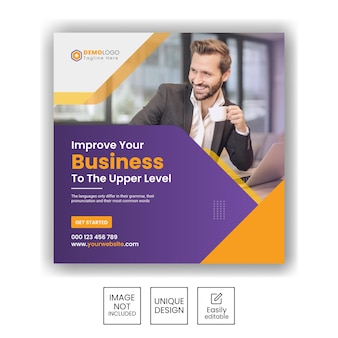 Marketingbureau voor bedrijfspromotie en zakelijke sociale media instagram postbanner