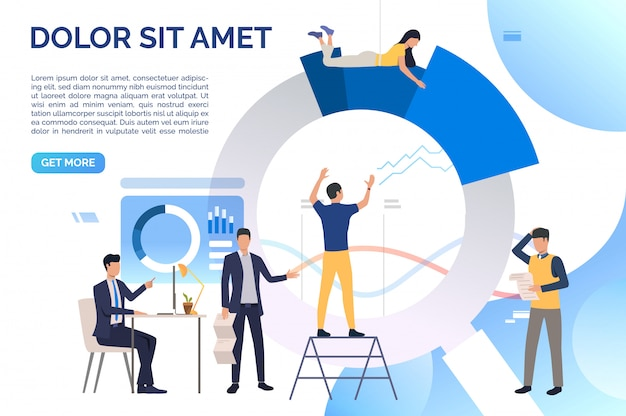 Marketinggroep die aan project werkt