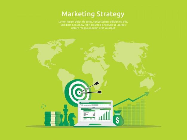 Marketingstrategie en bedrijfsanalyseaudit met grafieken