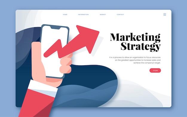Marketingstrategie informatie grafische website