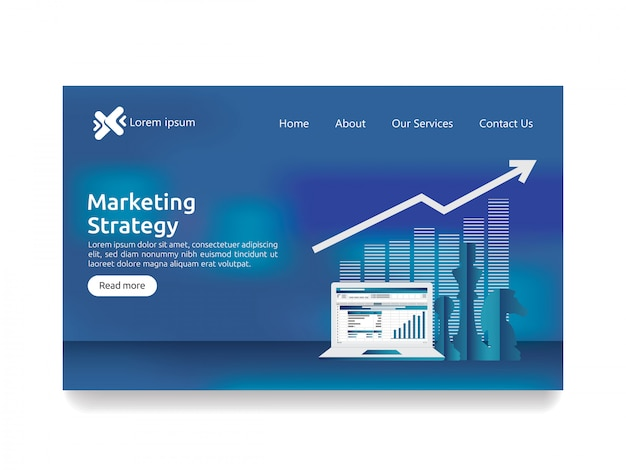 Marketingstrategieconcept voor bedrijfsfinanciënanalyse