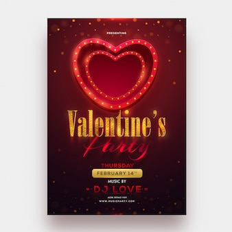 Markies verlichting hartvorm met glitter tekst van valentine's da
