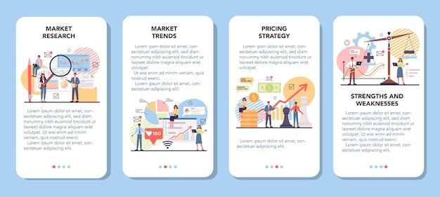 Markt banner voor mobiele applicatie