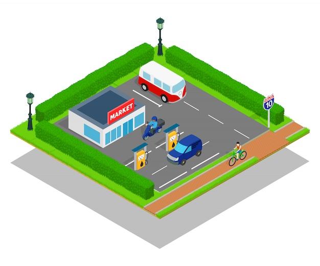 Markt concept scène