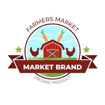 Markt logo collectie sjabloon