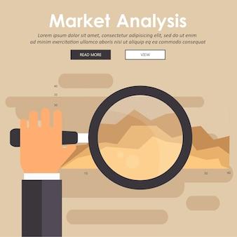 Marktanalyse concept