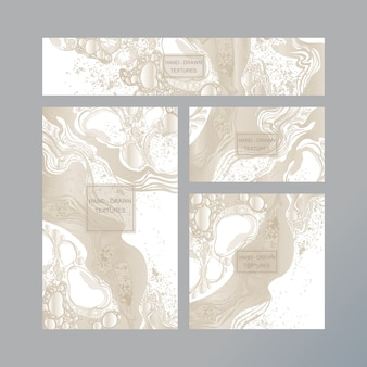 Marmeren abstract visitekaartje