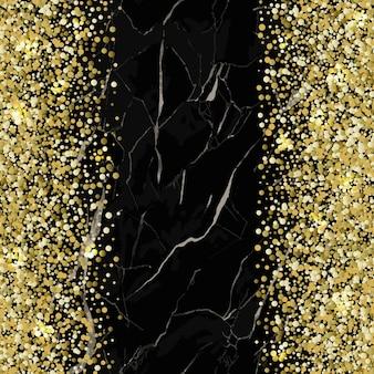 Marmeren naadloos patroon met gouden glitterstrepen marmering oppervlak moderne nieuwjaarsachtergrond