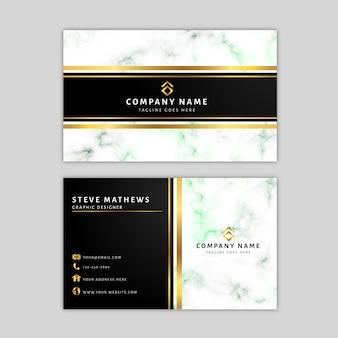 Marmeren sjabloon voor visitekaartjes