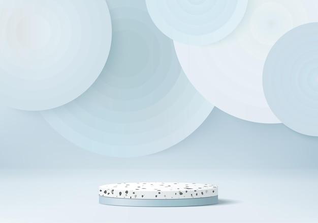Marmeren stenen productvertoningsplatform