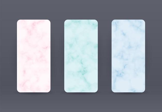 Marmeren telefoon achtergrond roze groen en blauw patroon sjabloon voor trendy bruiloft spullen