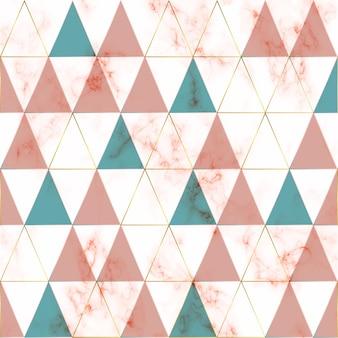Marmeren textuur, geometrisch patroon met gouden geometrische lijnen