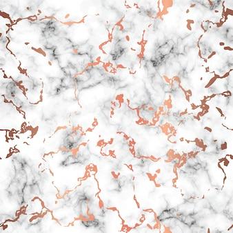Marmeren textuurontwerp met koper ploetert vlekken, zwart-witte marmeroppervlakte, moderne luxueuze achtergrond