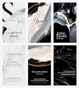 Marmeren visitekaartje sjabloon vector in luxe stijl collectie