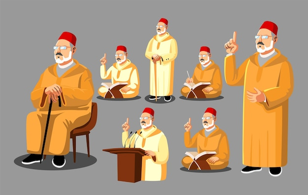 Marokkaanse moslimleraar concept