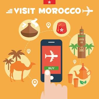 Marokko achtergrond ontwerp
