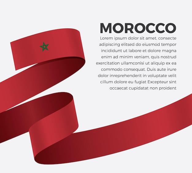 Marokko lint vlag, vectorillustratie op een witte achtergrond