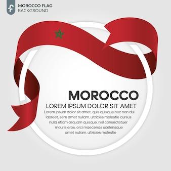 Marokko lint vlag vectorillustratie op een witte achtergrond