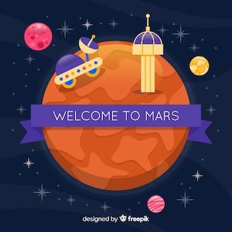 Mars exploratie achtergrond