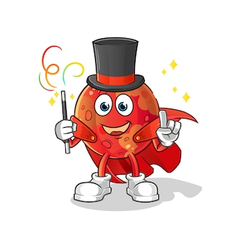 Mars goochelaar illustratie