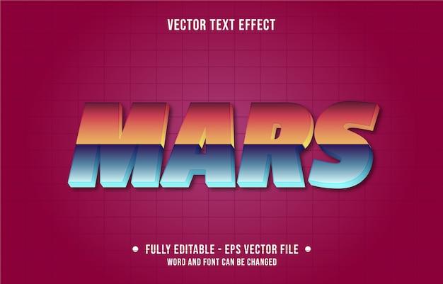 Mars retro kleurovergang bewerkbare teksteffectsjabloon