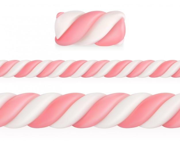 Marshmallows snoep, vector naadloze patroon mesh