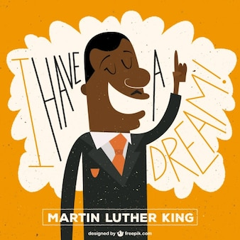 Martin luther king illustratie