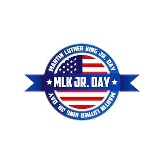 Martin luther king, jr. dagteken symbool logo geïsoleerd op een witte achtergrond. vetor illustratie eps 10