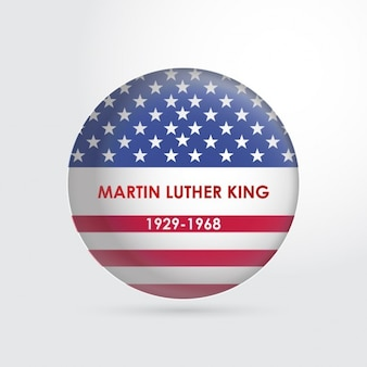 Martin luther king usa flag knop
