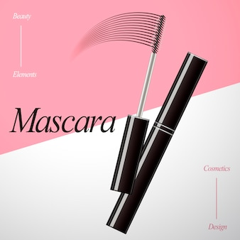 Mascara ontwerp element illustratie