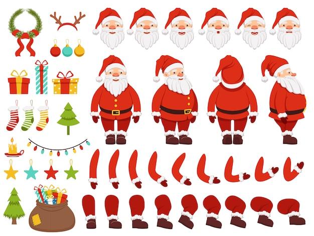 Mascotte creatie kit van kerst karakter.
