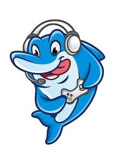Mascotte design van dolfin-spellen