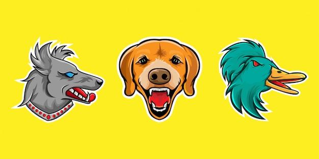 Mascotte dier logo illustratie