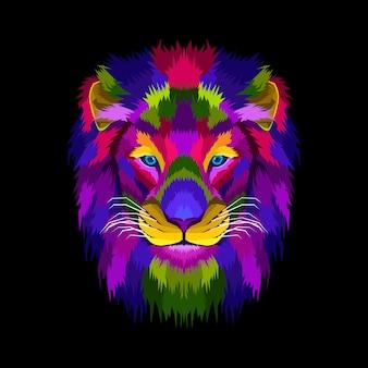 Mascotte hoofd leeuwenkoning