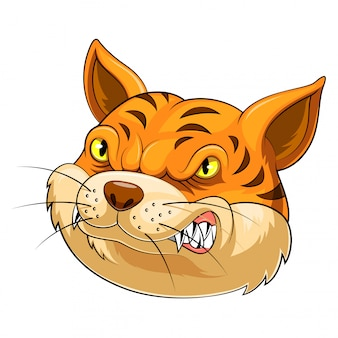 Mascotte hoofd van een kat