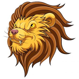 Mascotte hoofd van een leeuw