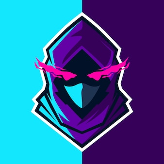 Mascotte logo gaming illustratie voor sportteam