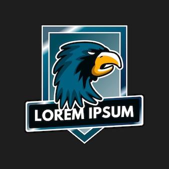 Mascotte logo ontwerp met adelaar