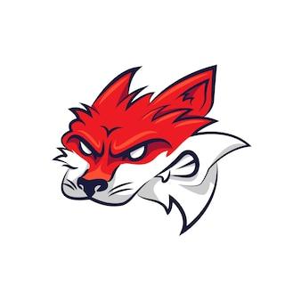 Mascotte logo-ontwerp met vos