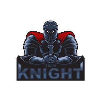 Mascotte logo ridder