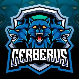 Mascotte van cerberus. esport logo ontwerp