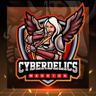 Mascotte van cyberdelics. esport logo ontwerp