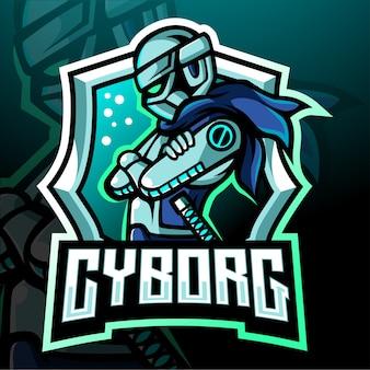 Mascotte van cyborg. esport-logo