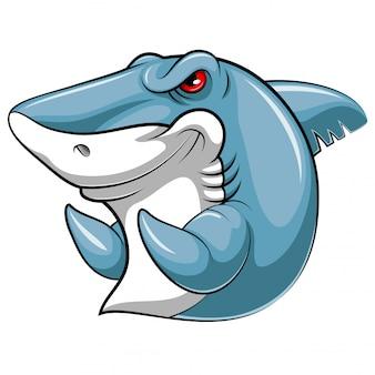 Mascotte vis van een haai