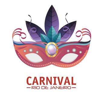 Masker carnaval rio de janeiro feestje